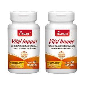 Vital Imune Vitaminas C, D e Zinco - 2 unidades de 60 Cápsulas - Tiaraju