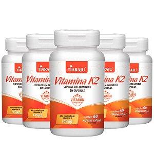 Vitamina K2 Menaquinona - 5 unidades de 60 Cápsulas - Tiaraju