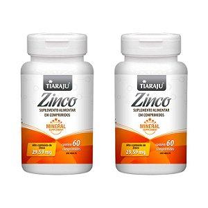 Zinco - 2 unidades de 60 Comprimidos - Tiaraju