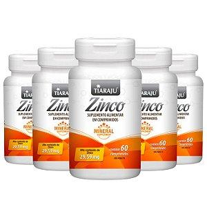 Zinco - 5 unidades de 60 Comprimidos - Tiaraju