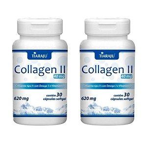 Collagen Tipo II com Ômega 3 - 2 unidades de 30 Cápsulas - Tiaraju