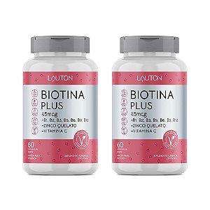 Biotina Plus - 2 unidades de 60 Cápsulas - Lauton