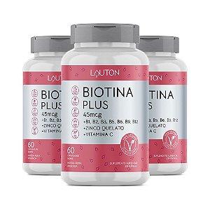 Biotina Plus - 3 unidades de 60 Cápsulas - Lauton