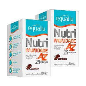 Nutri Imunidade A-Z - 2 unidades de 30 Cápsulas - Equaliv