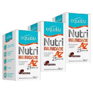 Nutri Imunidade A-Z - 3 unidades de 30 Cápsulas - Equaliv