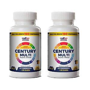 Polivitamínico Century Multi - 2 unidades de 150 Comprimidos - VitGold
