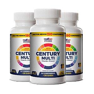 Polivitamínico Century Multi - 3 unidades de 150 Comprimidos - VitGold