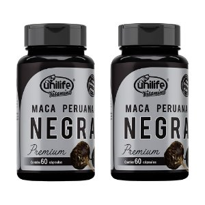 Kit Maca Peruana Negra Premium Unilife Suplemento 120 Cáps