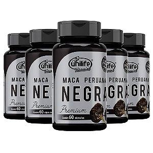 Kit Maca Peruana Negra Premium Unilife Suplemento 300 Cáps