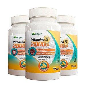 Kit Vitamina D 2000 UI Katiguá Colecalciferol 180 Cápsulas