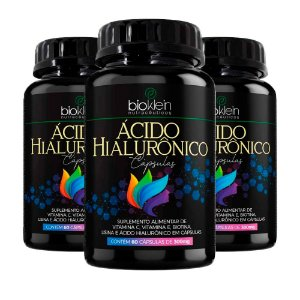 Ácido Hialurônico - 3 unidades de 60 Cápsulas - Bioklein