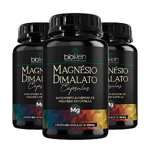Kit Magnésio Dimalato Bioklein Ácido Málico 180 Cápsulas