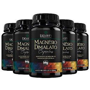 Magnésio Dimalato - 5 unidades de 60 Cápsulas - Bioklein