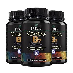 Vitamina B7 Biotina - 3 unidades de 60 Cápsulas - Bioklein