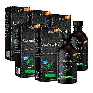 Kit Aloe Vera Max Babosa Líquida Bioklein 5 Unid. De 500ml