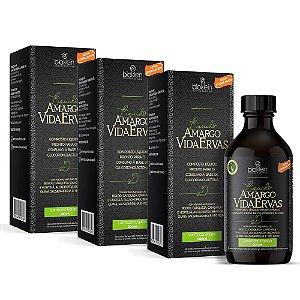Amargo Vida Ervas Líquido - 3 unidades de 500ml - Bioklein