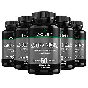Kit 5 Amora Negra - 60 Cápsulas - Bioklein