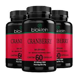 Kit Cranberry Bioklein Oxicoco Suplemento Sem Sabor 180 Cáps