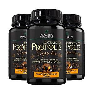 Extrato de Própolis - 3 unidades de 60 Cápsulas - Bioklein