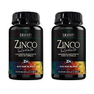 Zinco Quelato Concentrado - 2 unidades de 60 Cápsulas - Bioklein