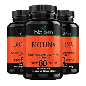 Biotina - 3 unidades de 60 Cápsulas - Bioklein