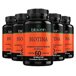 Biotina - 5 unidades de 60 Cápsulas - Bioklein