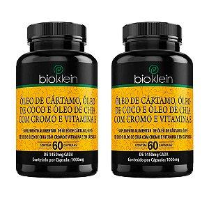 Óleo de Cártamo + Coco + Chia - 2 unidades de 60 Cápsulas - Bioklein