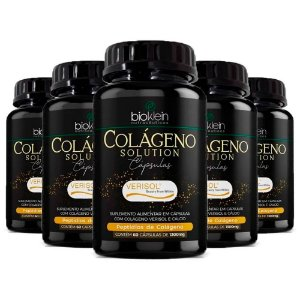 Kit Colágeno Solution Verisol com Cálcio Bioklein 300 Cáps