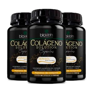 Kit Colágeno Solution Verisol com Cálcio Bioklein 180 Cáps