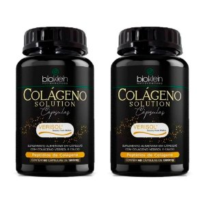 Kit Colágeno Solution Verisol com Cálcio Bioklein 120 Cáps