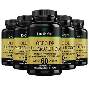 Óleo de Cártamo e Coco - 5 unidades de 60 Cápsulas - Bioklein