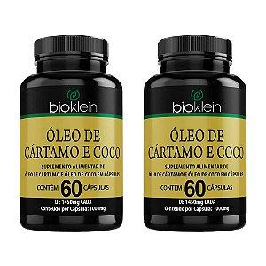 Kit 2 Óleo de Cártamo e Coco - 60 Cápsulas - Bioklein