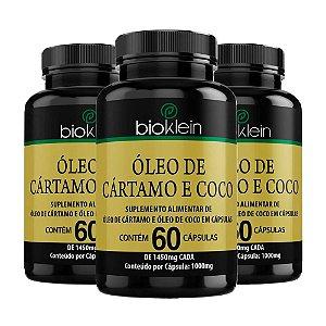 Óleo de Cártamo e Coco - 3 unidades de 60 Cápsulas - Bioklein