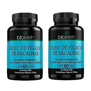 Kit Óleo De Fígado De Bacalhau Em Cápsulas Bioklein 120 Cáps