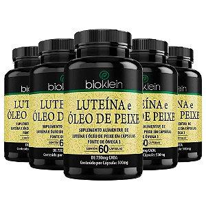 Luteína e Óleo de Peixe - 5 unidades de 60 Cápsulas - Bioklein
