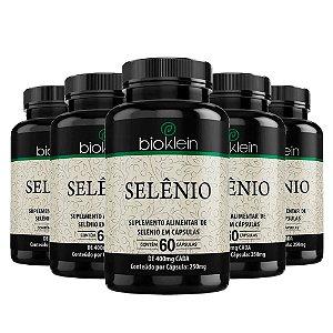 Selênio - 5 unidades de 60 Cápsulas - Bioklein