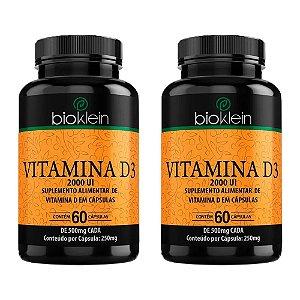 Vitamina D3 2000 UI - 2 unidades de 60 Cápsulas - Bioklein