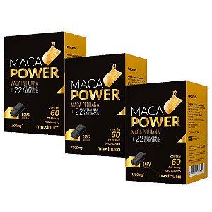 Maca Peruana Power com vitaminas - 3 unidades de 60 Cápsulas - Maxinutri