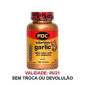 Odorless Garlic Alho sem odor - 100 Cápsulas - FDC