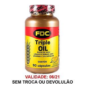 Triple Oil Ômega 3-6-9 - 90 Cápsulas - FDC