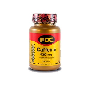 Cafeína Em Cápsulas FDC Suplemento 420mg 120 Cáps
