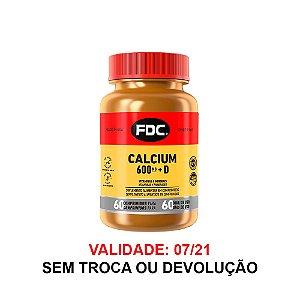Cálcio + Vitamina D - 60 Comprimidos - FDC