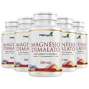 Magnésio Dimalato - 5x100 Cápsulas - Melcoprol