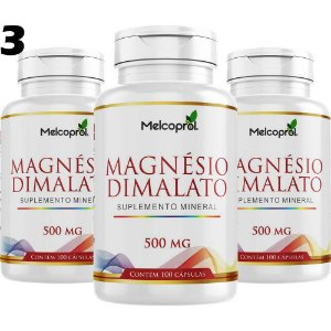 Magnésio Dimalato - 3x 100 Cápsulas - Melcoprol