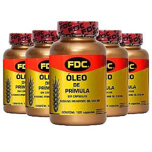 Óleo de Prímula - 5 unidades de 120 Cápsulas - FDC