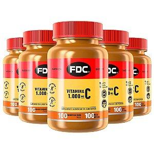 Vitamina C 1000mg - 5 unidades de 100 Comprimidos - FDC