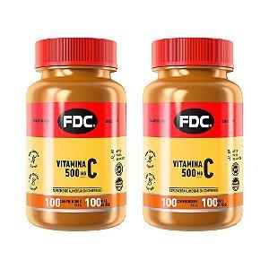 Vitamina C 500mg - 2 unidades de 100 Comprimidos - FDC