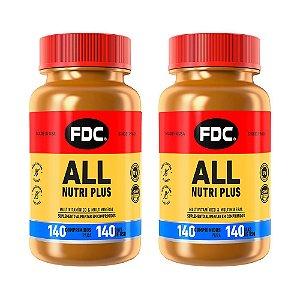 Polivitamínico All Nutri Plus - 2 unidades de 140 Comprimidos - FDC