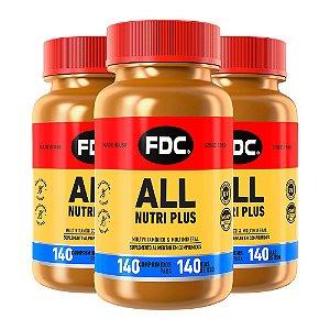 Polivitamínico All Nutri Plus - 3 unidades de 140 Comprimidos - FDC