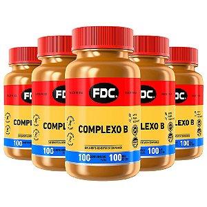 Complexo B - 5 unidades de 100 Comprimidos - FDC